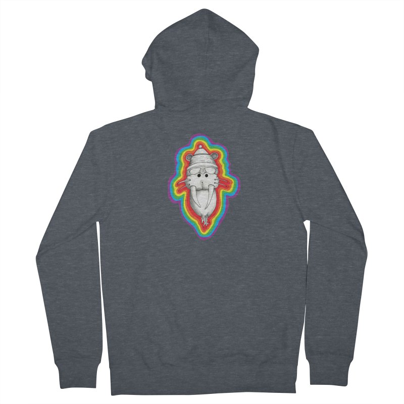 Walrus Monkey God Men's French Terry Zip-Up Hoody by Strange Menagerie