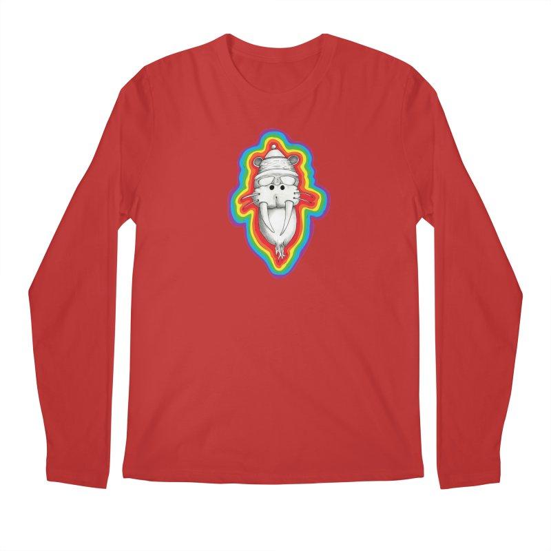 Walrus Monkey God Men's Regular Longsleeve T-Shirt by Strange Menagerie