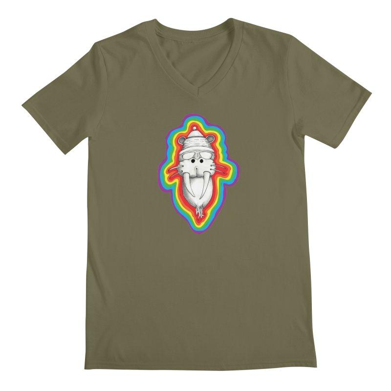 Walrus Monkey God Men's Regular V-Neck by Strange Menagerie