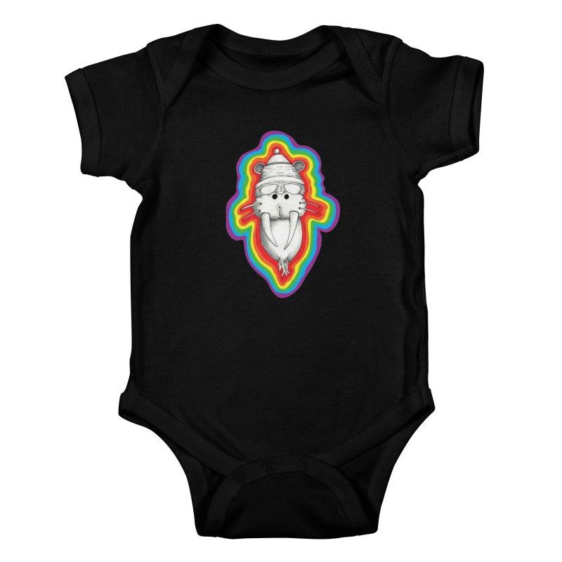 Walrus Monkey God Kids Baby Bodysuit by Strange Menagerie