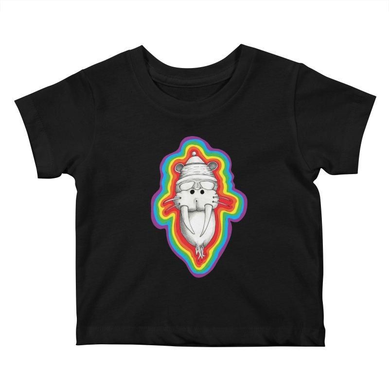 Walrus Monkey God Kids Baby T-Shirt by Strange Menagerie
