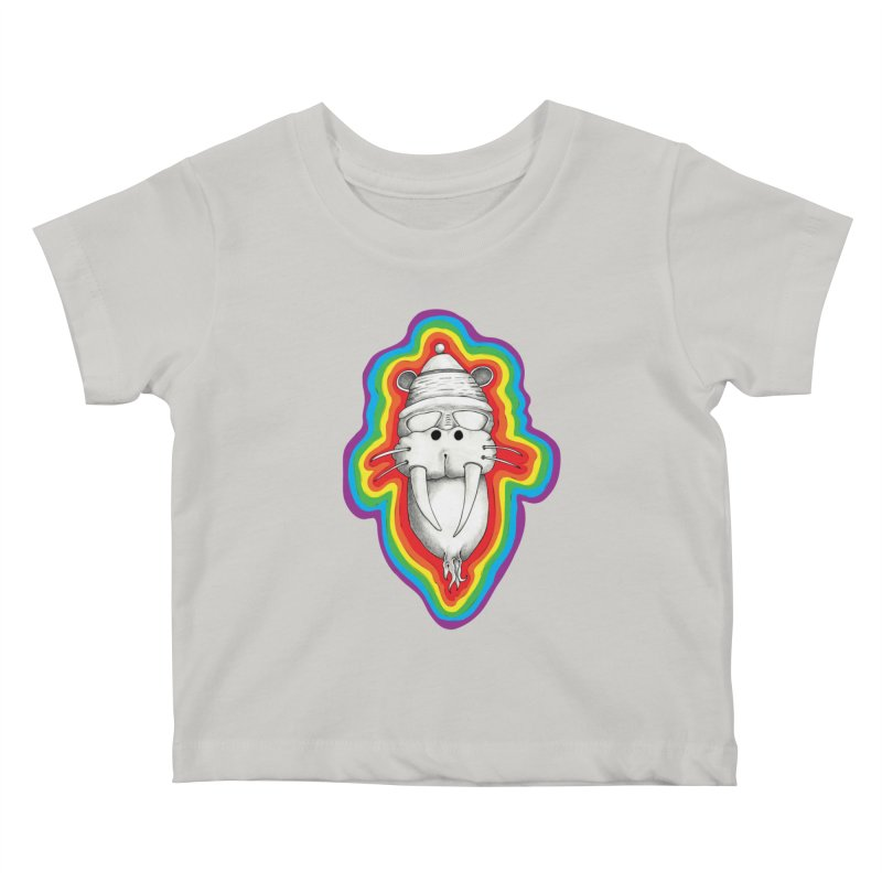 Walrus Monkey God Kids Baby T-Shirt by Strange Menagerie