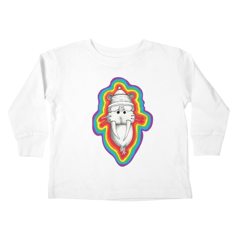 Walrus Monkey God Kids Toddler Longsleeve T-Shirt by Strange Menagerie