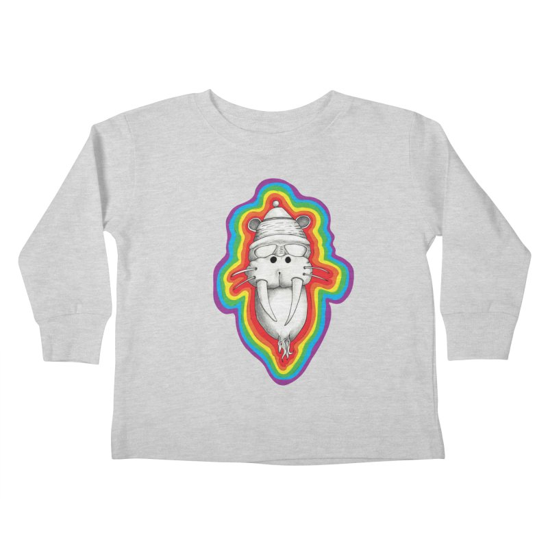 Walrus Monkey God Kids Toddler Longsleeve T-Shirt by Strange Menagerie