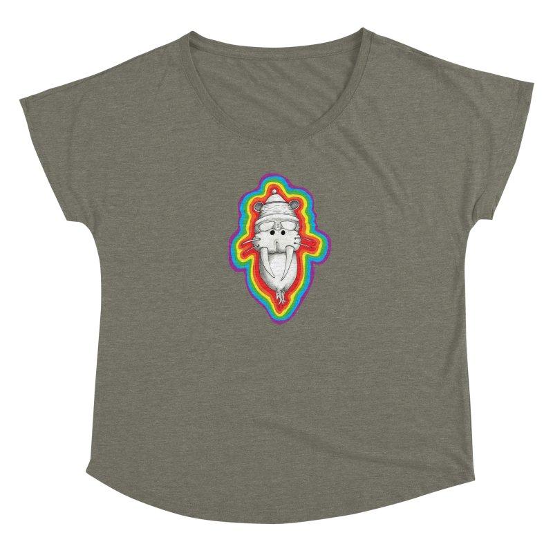 Walrus Monkey God Women's Dolman Scoop Neck by Strange Menagerie