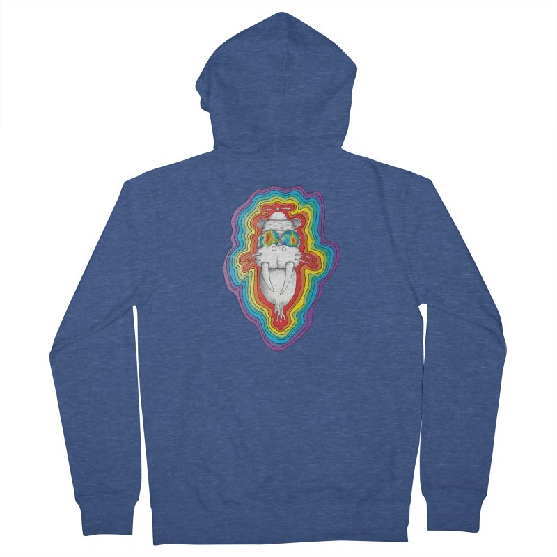 Walrus Monkey God [Hippie Daze] Women's Zip-Up Hoody by Strange Menagerie