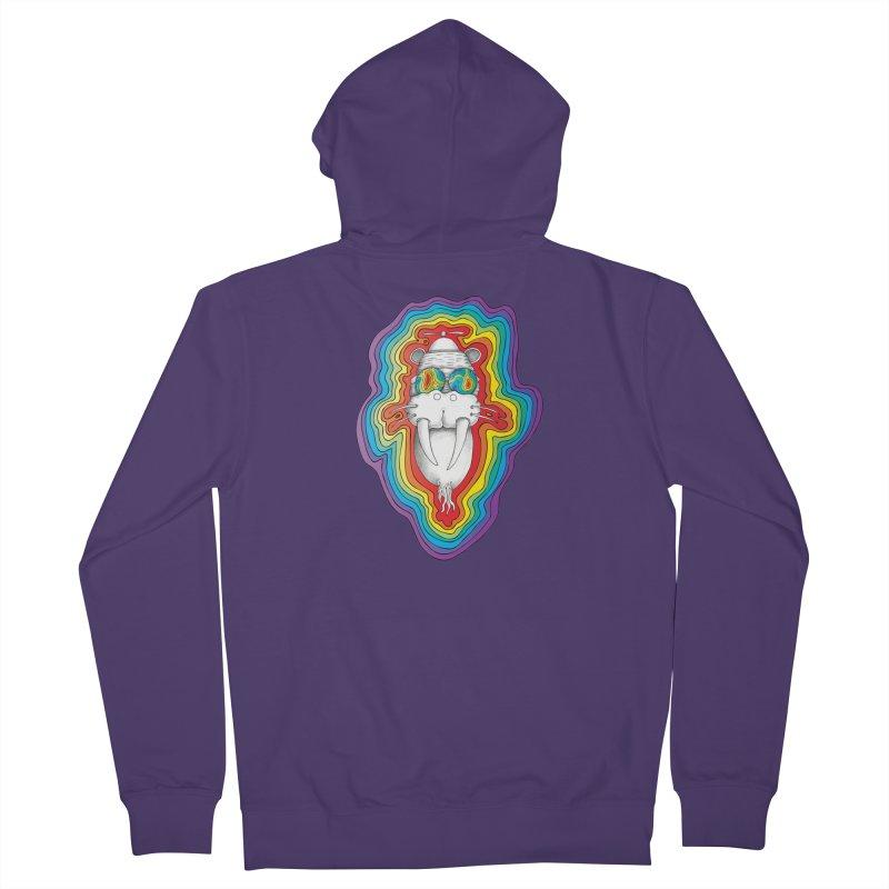 Walrus Monkey God [Hippie Daze] Women's French Terry Zip-Up Hoody by Strange Menagerie