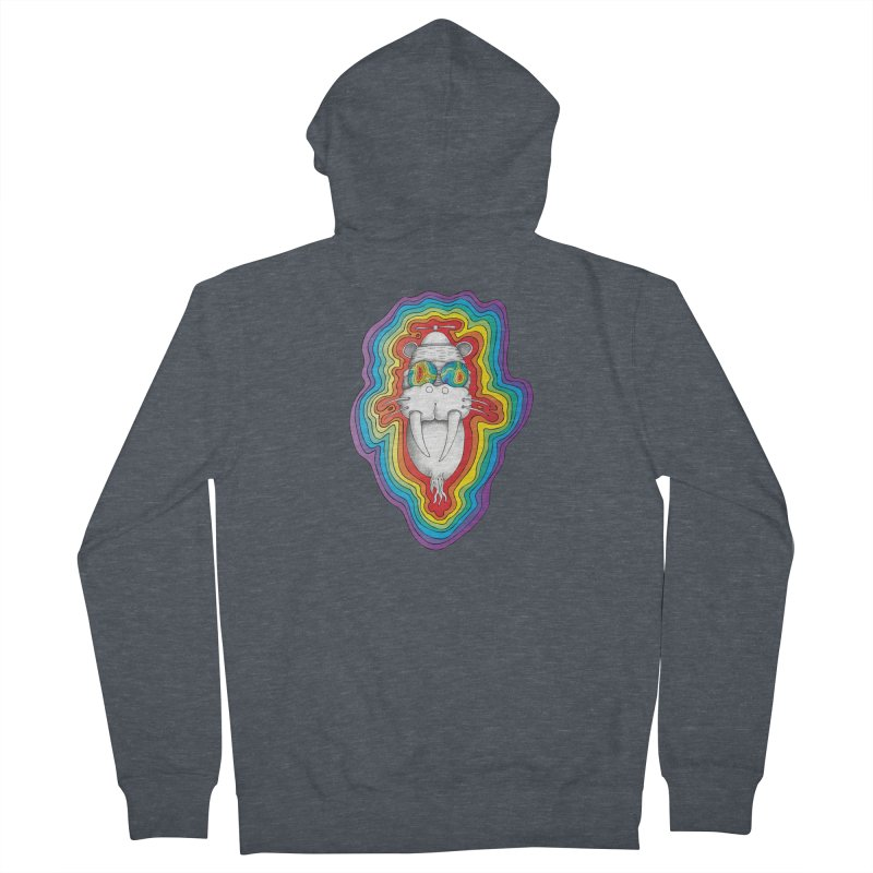 Walrus Monkey God [Hippie Daze] Men's Zip-Up Hoody by Strange Menagerie