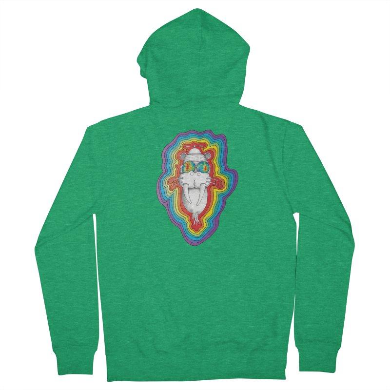 Walrus Monkey God [Hippie Daze] Men's Zip-Up Hoody by Strange Menagerie