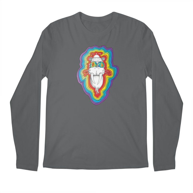 Walrus Monkey God [Hippie Daze] Men's Regular Longsleeve T-Shirt by Strange Menagerie