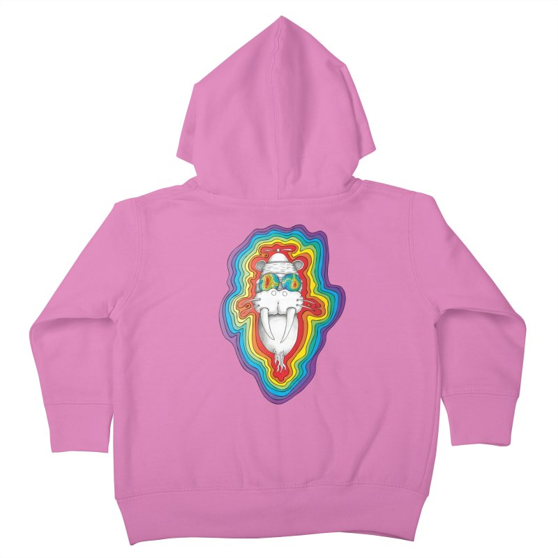 Walrus Monkey God [Hippie Daze] Kids Toddler Zip-Up Hoody by Strange Menagerie