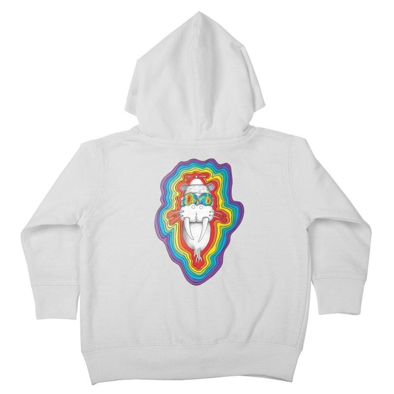Walrus Monkey God [Hippie Daze] Kids Toddler Zip-Up Hoody by Strange Menagerie