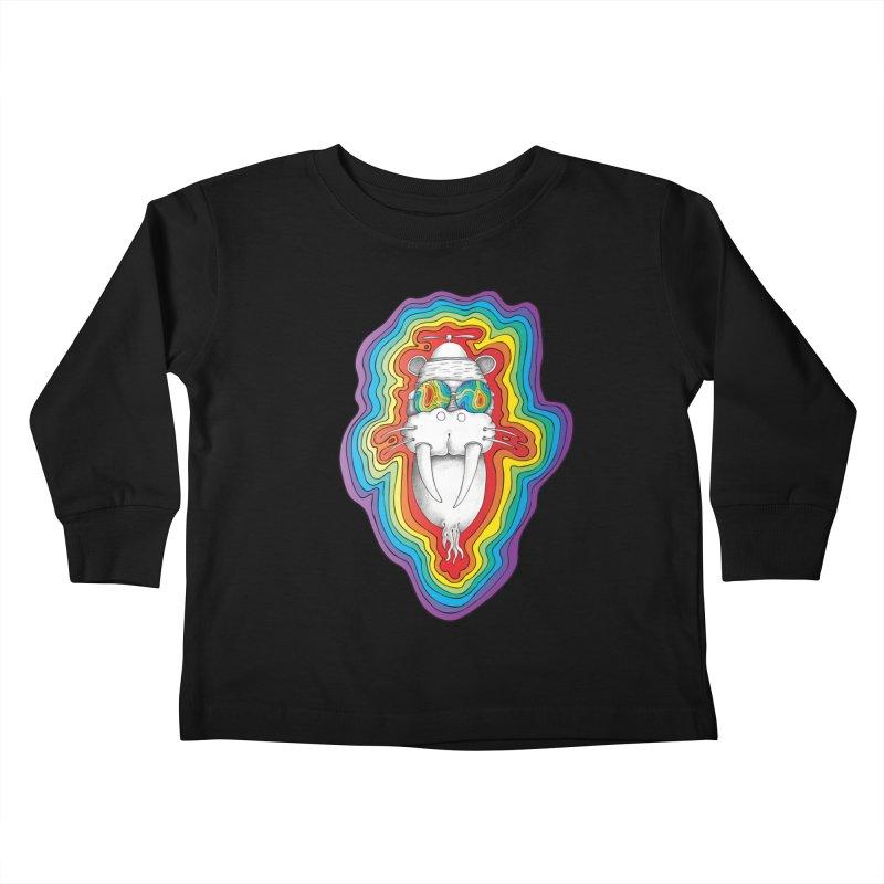 Walrus Monkey God [Hippie Daze] Kids Toddler Longsleeve T-Shirt by Strange Menagerie
