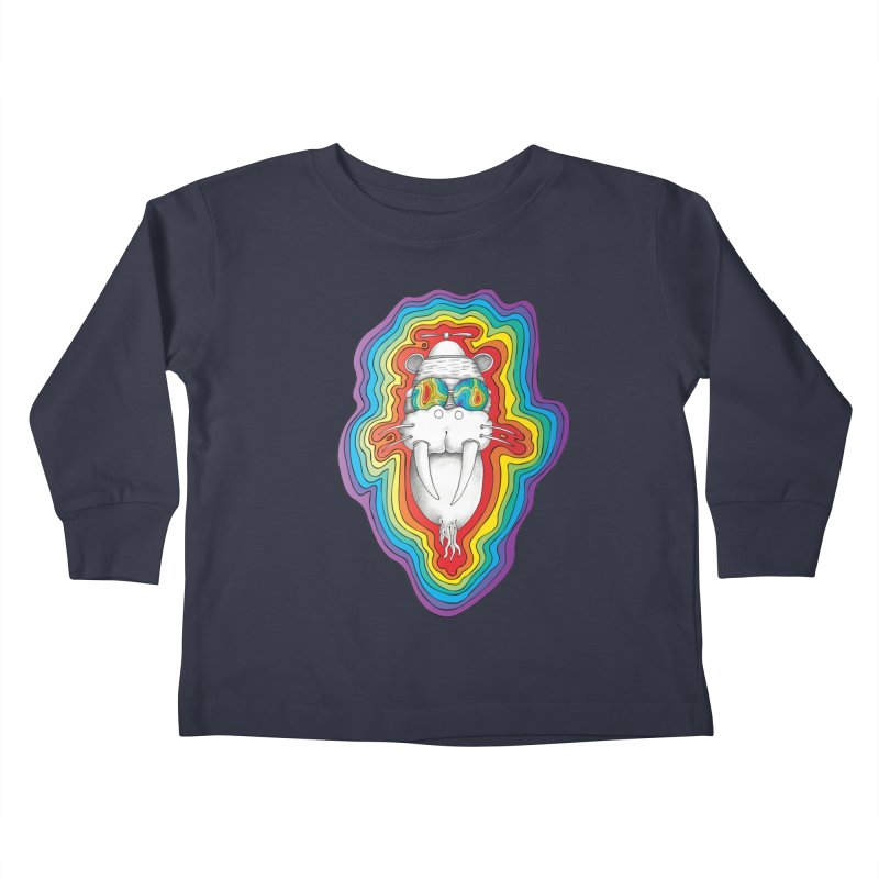 Walrus Monkey God [Hippie Daze] Kids Toddler Longsleeve T-Shirt by Strange Menagerie