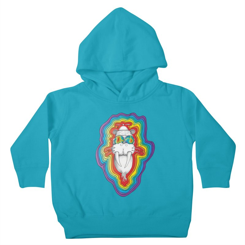 Walrus Monkey God [Hippie Daze] Kids Toddler Pullover Hoody by Strange Menagerie