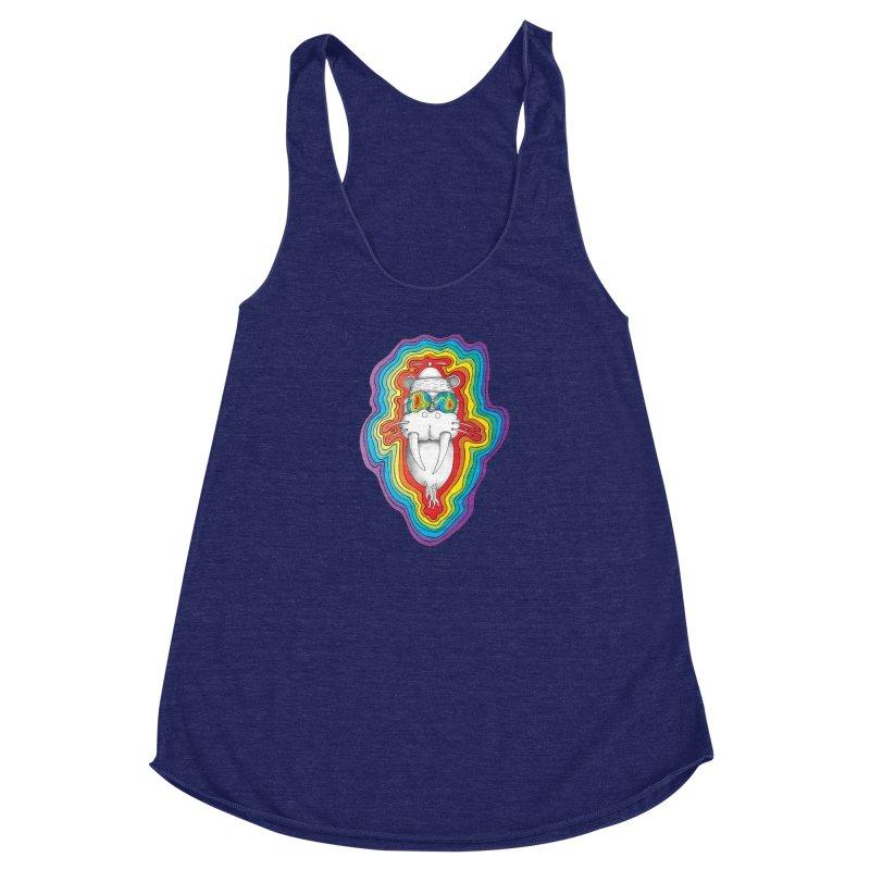 Walrus Monkey God [Hippie Daze] Women's Racerback Triblend Tank by Strange Menagerie