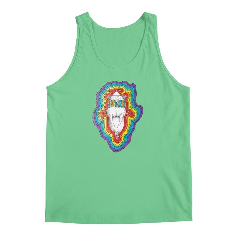 Walrus Monkey God [Hippie Daze] Men's Regular Tank by Strange Menagerie