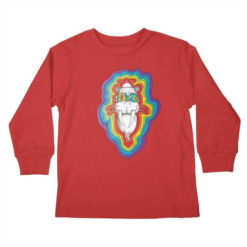 Walrus Monkey God [Hippie Daze] Kids Longsleeve T-Shirt by Strange Menagerie