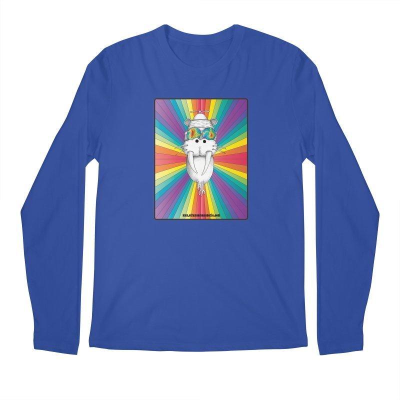 Psychedelic Walrus Monkey God Variation 2 Men's Regular Longsleeve T-Shirt by Strange Menagerie