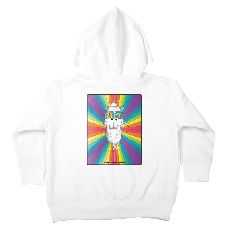 Psychedelic Walrus Monkey God Variation 2 Kids Toddler Zip-Up Hoody by Strange Menagerie