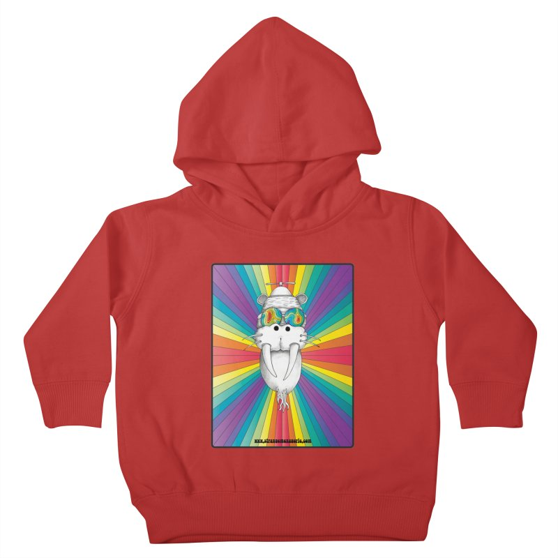 Psychedelic Walrus Monkey God Variation 2 Kids Toddler Pullover Hoody by Strange Menagerie