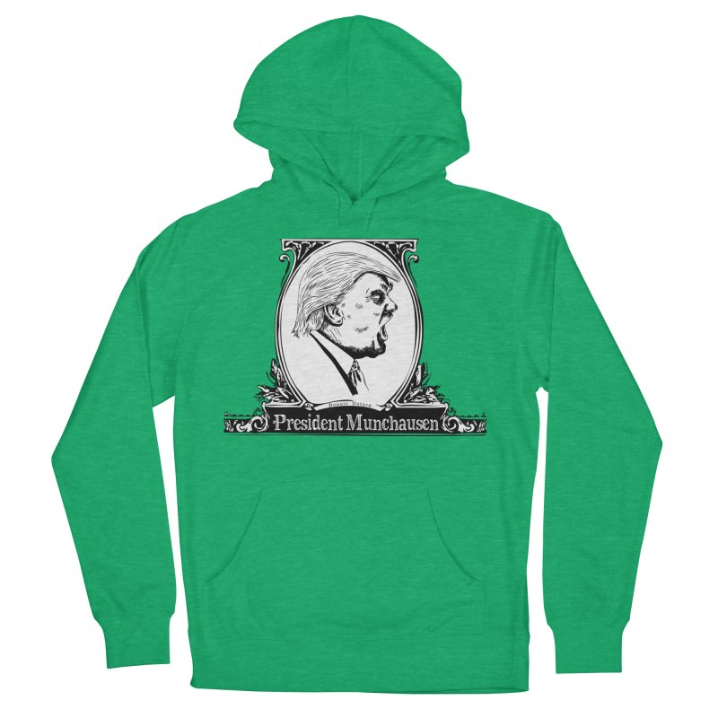 President Munchausen Women's French Terry Pullover Hoody by Strange Menagerie