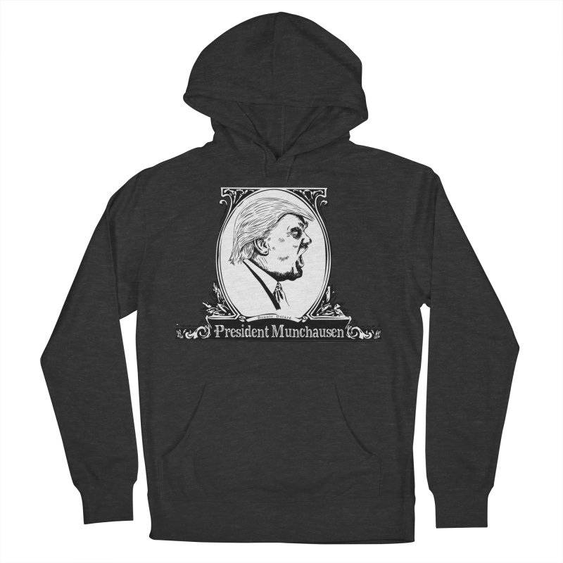President Munchausen Women's French Terry Pullover Hoody by Strange Menagerie