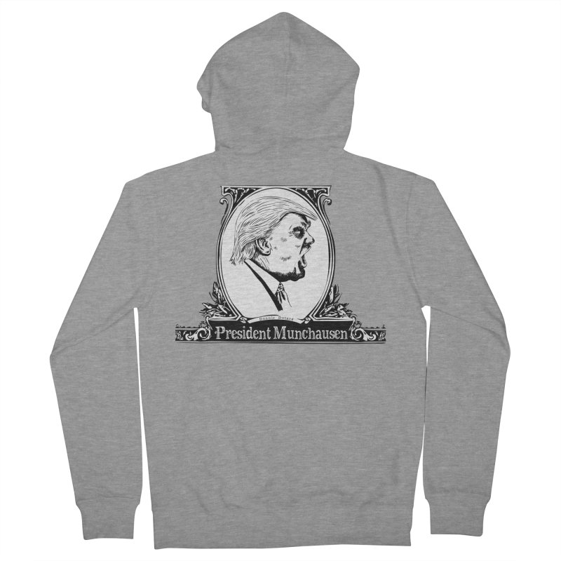 President Munchausen Men's French Terry Zip-Up Hoody by Strange Menagerie