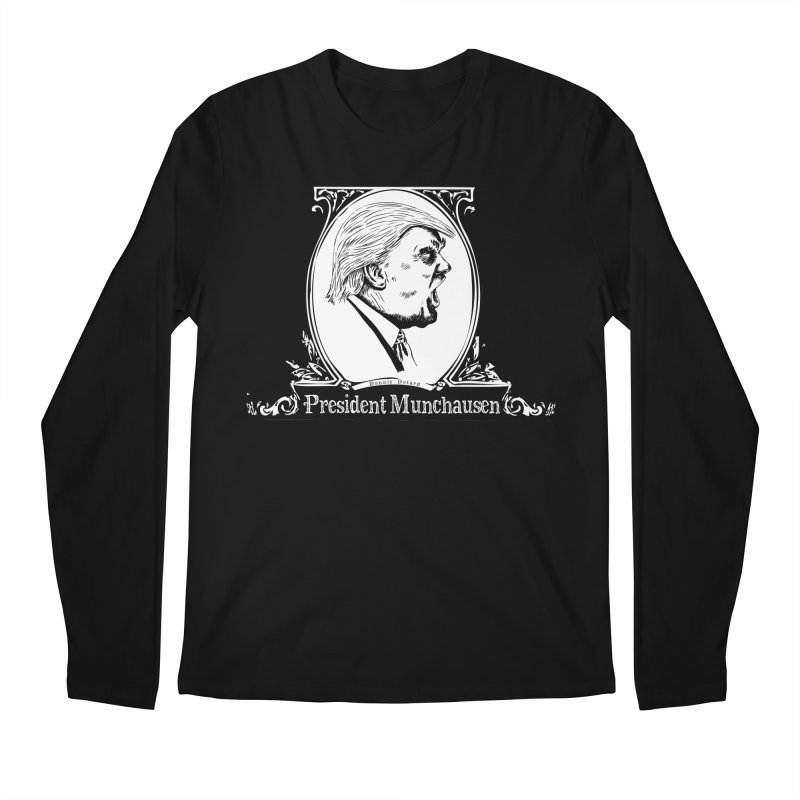 President Munchausen Men's Regular Longsleeve T-Shirt by Strange Menagerie