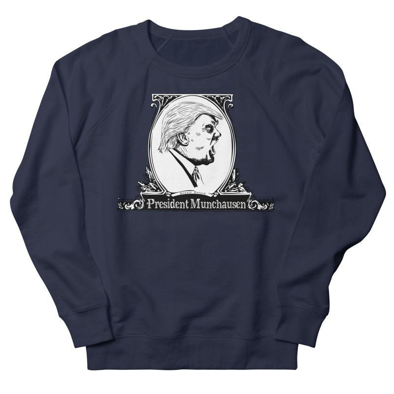 President Munchausen Women's French Terry Sweatshirt by Strange Menagerie