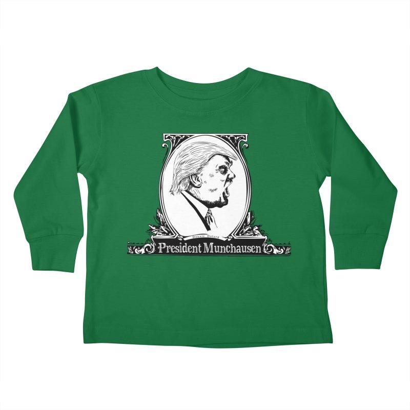 President Munchausen Kids Toddler Longsleeve T-Shirt by Strange Menagerie