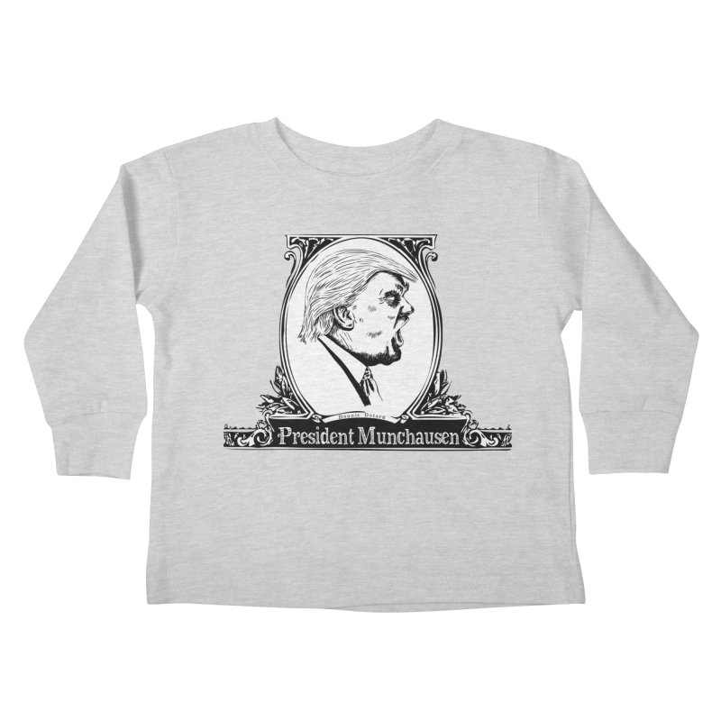President Munchausen Kids Toddler Longsleeve T-Shirt by Strange Menagerie