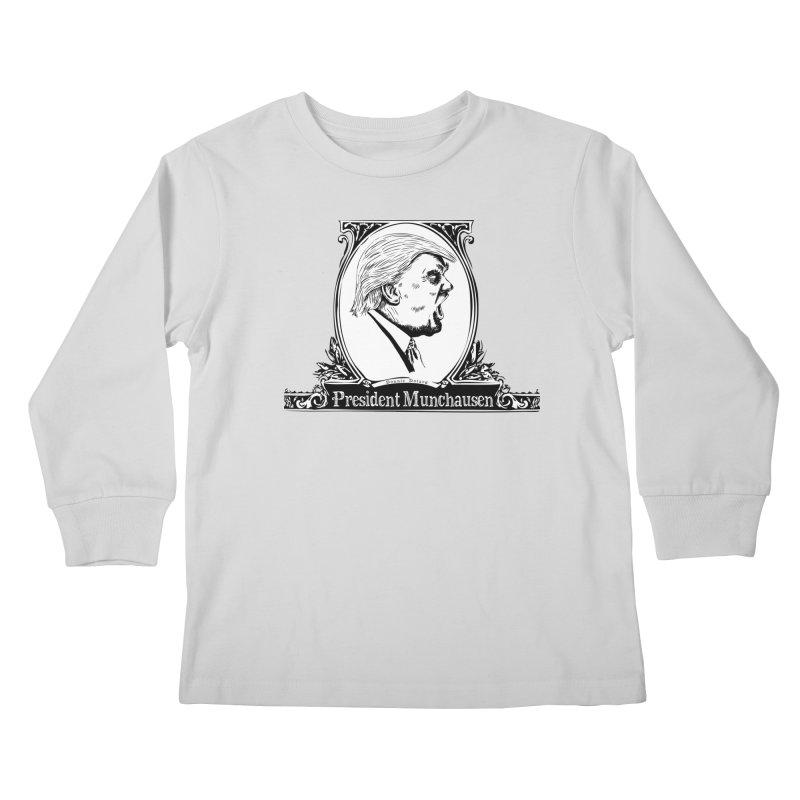 President Munchausen Kids Longsleeve T-Shirt by Strange Menagerie