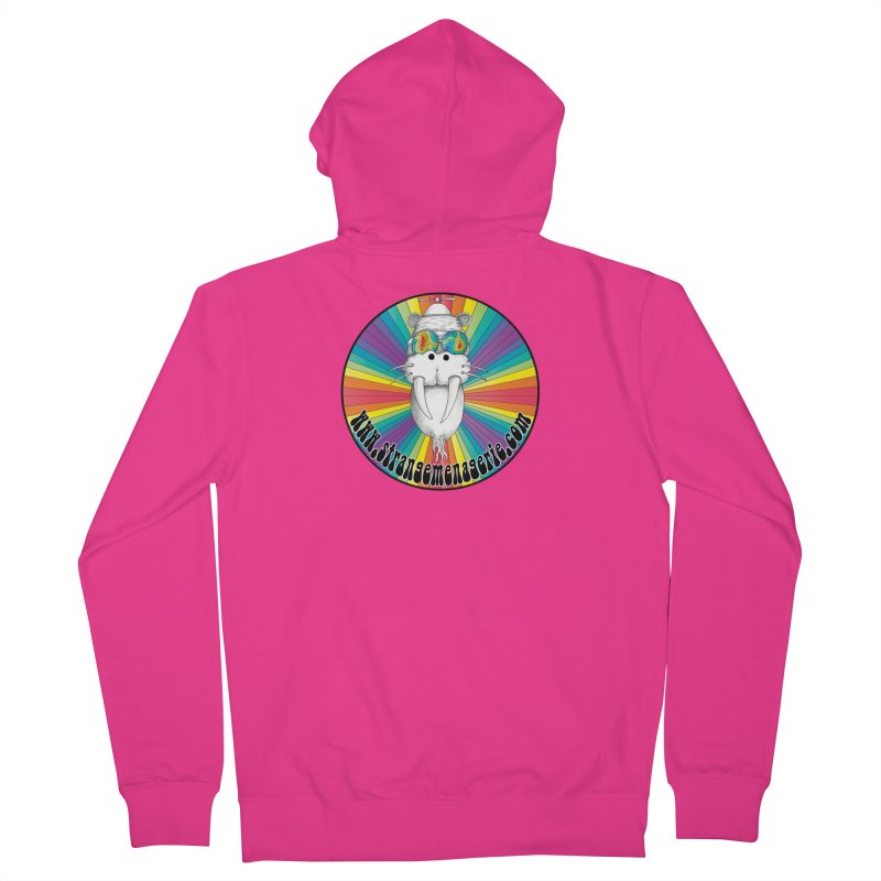 Psychedelic Walrus Money God *in the round* :) Men's French Terry Zip-Up Hoody by Strange Menagerie
