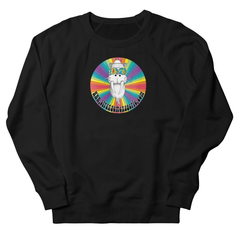 Psychedelic Walrus Money God *in the round* :) Women's French Terry Sweatshirt by Strange Menagerie
