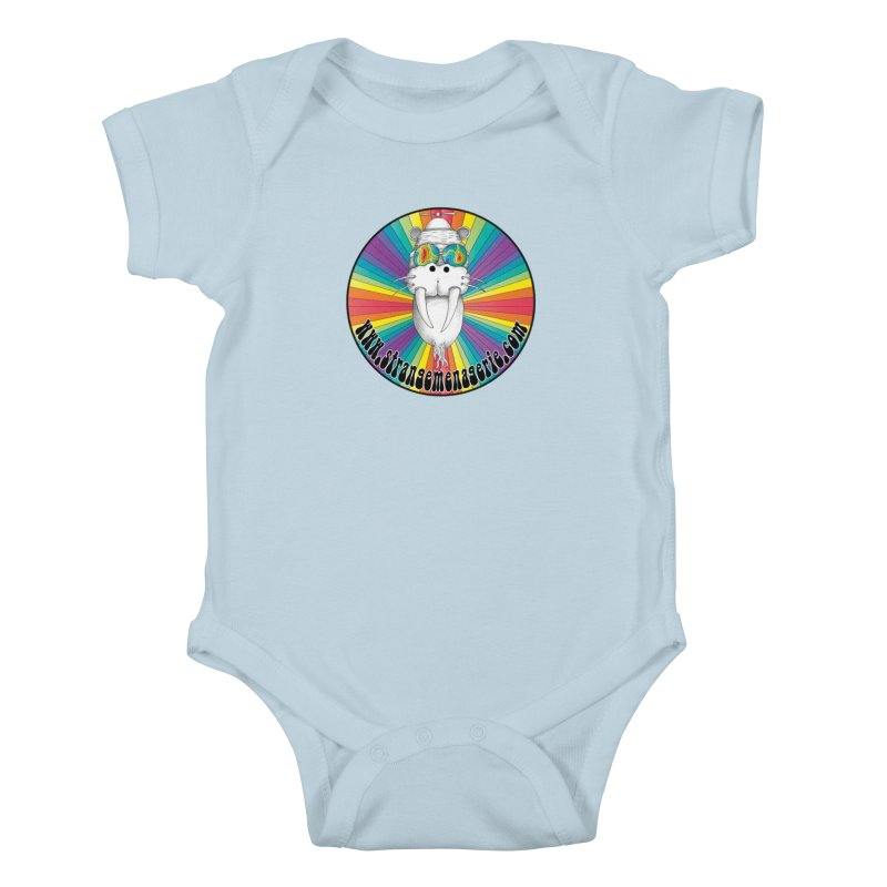 Psychedelic Walrus Money God *in the round* :) Kids Baby Bodysuit by Strange Menagerie