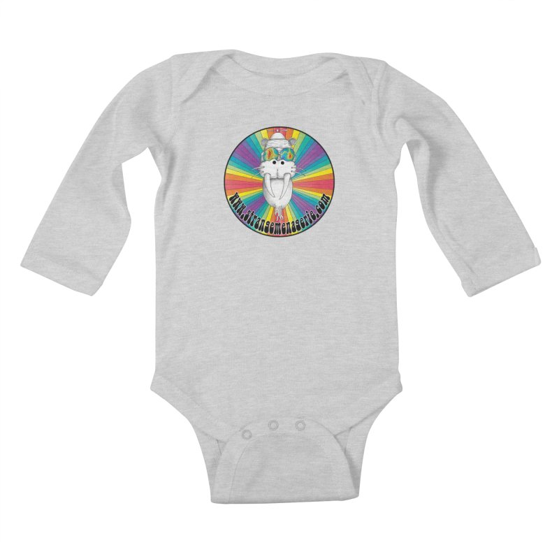 Psychedelic Walrus Money God *in the round* :) Kids Baby Longsleeve Bodysuit by Strange Menagerie