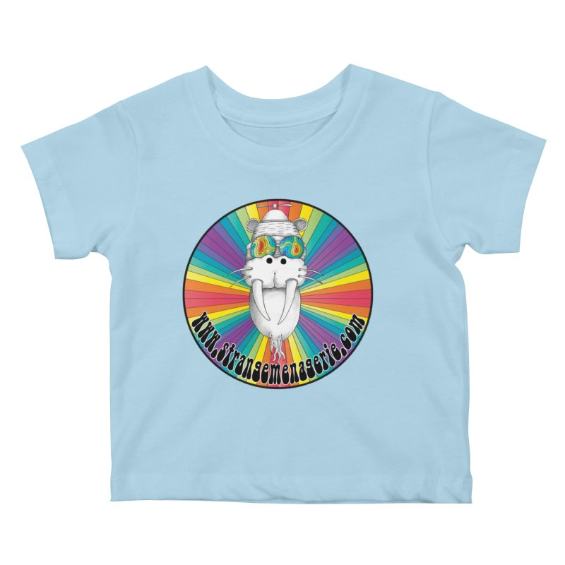 Psychedelic Walrus Money God *in the round* :) Kids Baby T-Shirt by Strange Menagerie