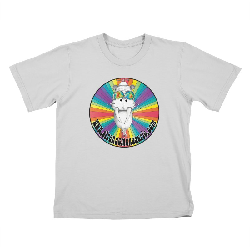 Psychedelic Walrus Money God *in the round* :) Kids T-Shirt by Strange Menagerie