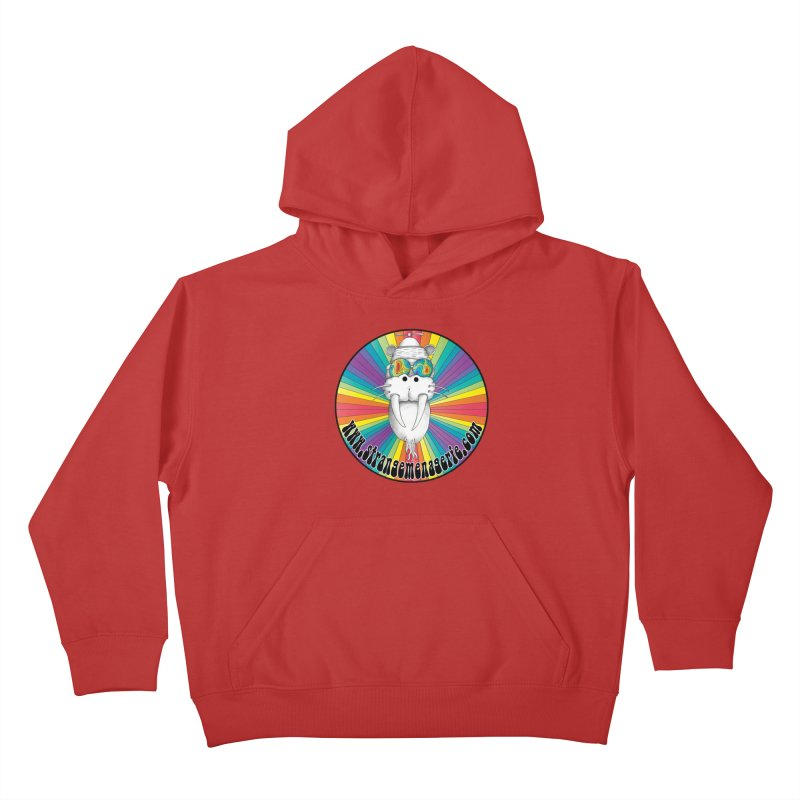 Psychedelic Walrus Money God *in the round* :) Kids Pullover Hoody by Strange Menagerie