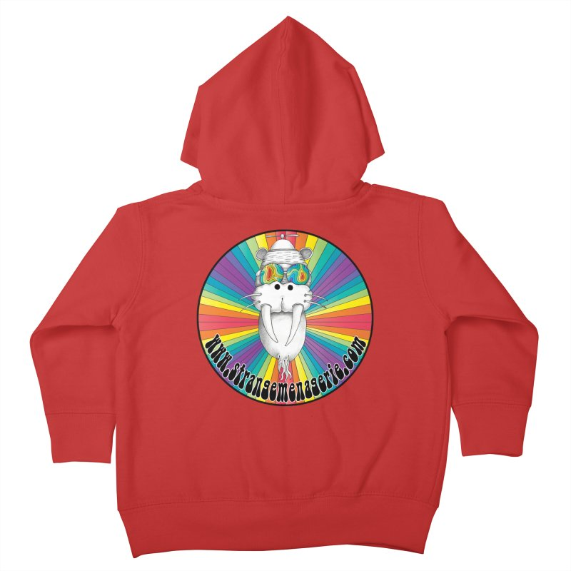 Psychedelic Walrus Money God *in the round* :) Kids Toddler Zip-Up Hoody by Strange Menagerie