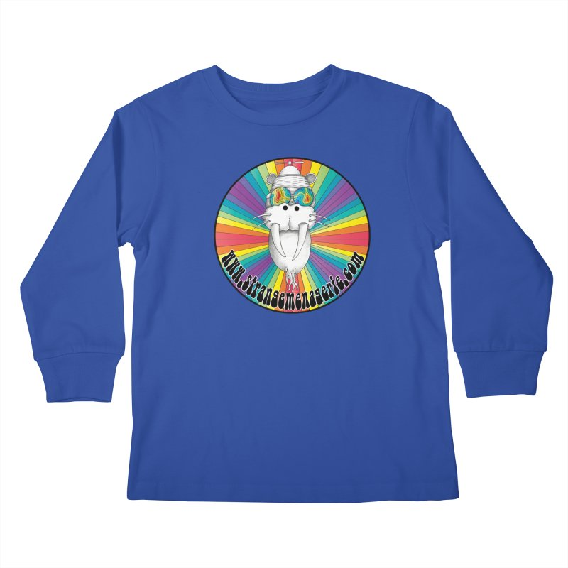 Psychedelic Walrus Money God *in the round* :) Kids Longsleeve T-Shirt by Strange Menagerie