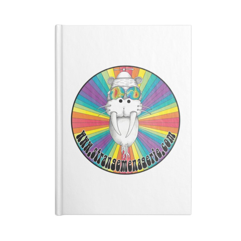 Psychedelic Walrus Money God *in the round* :) Accessories Notebook by Strange Menagerie