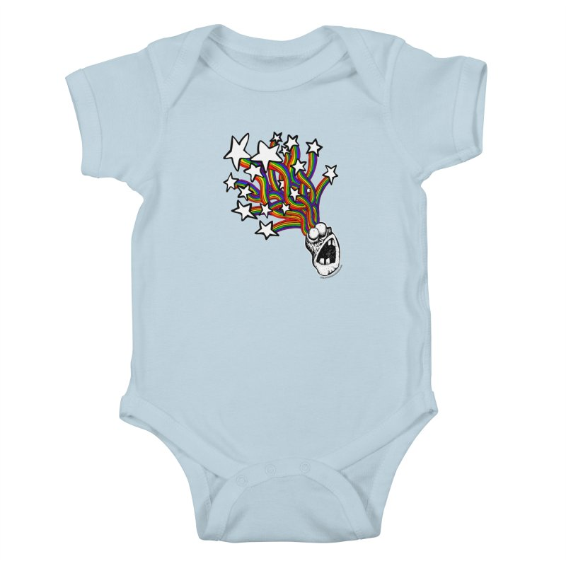 My Mind Is Full Of Stars!!!! Kids Baby Bodysuit by Strange Menagerie