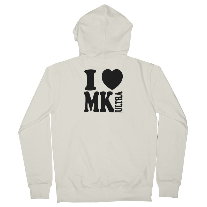 I Heart MK Ultra Men's French Terry Zip-Up Hoody by Strange Menagerie