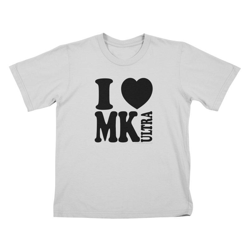 I Heart MK Ultra Kids T-Shirt by Strange Menagerie