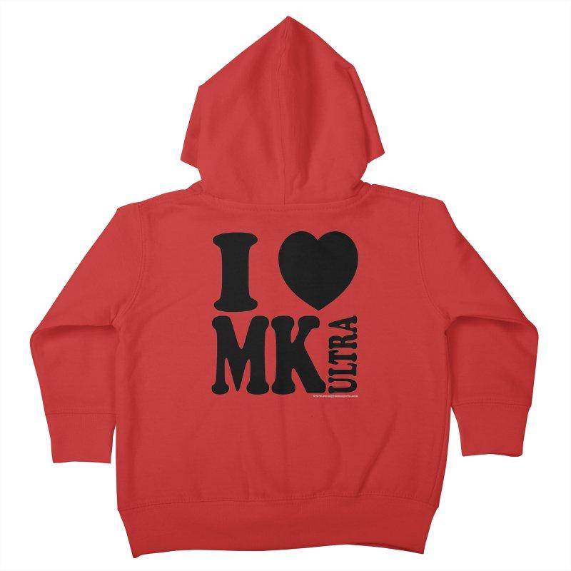 I Heart MK Ultra Kids Toddler Zip-Up Hoody by Strange Menagerie
