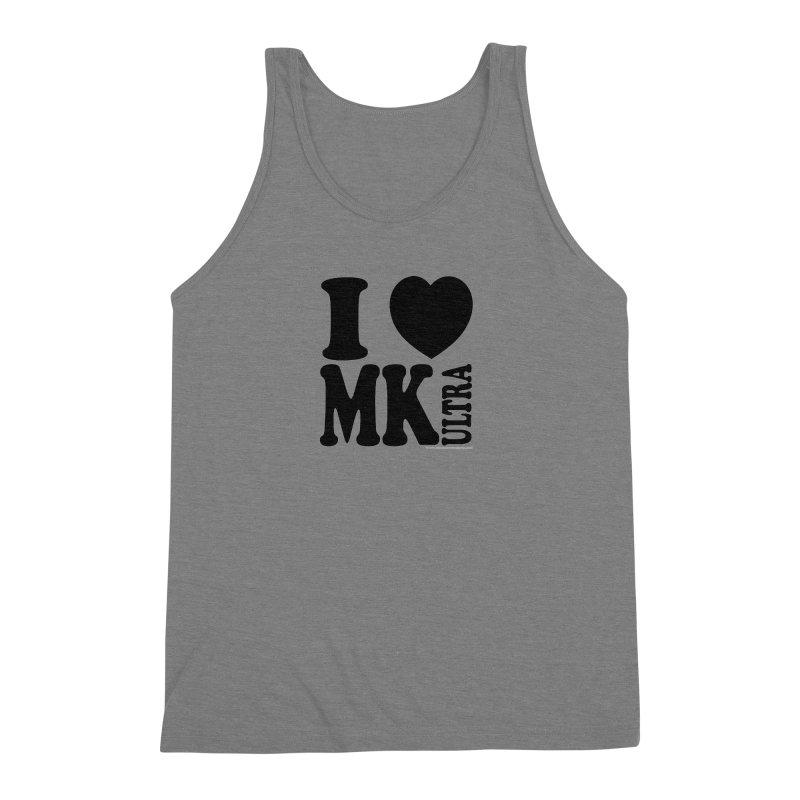 I Heart MK Ultra Men's Triblend Tank by Strange Menagerie