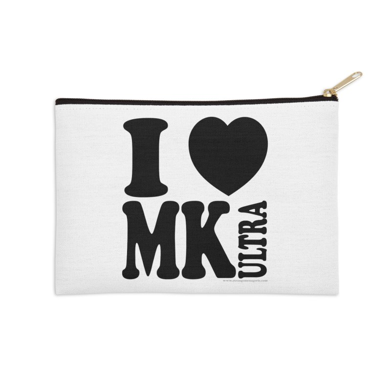 I Heart MK Ultra Accessories Zip Pouch by Strange Menagerie