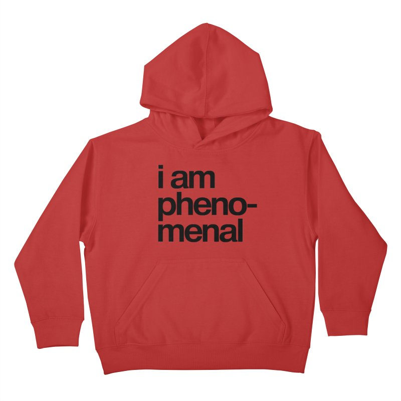 i am phenomenal Kids Pullover Hoody by omelette